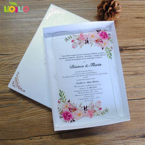 2019 hot sale custom printing clear acrylic card wedding