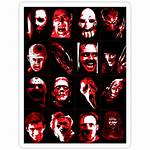 Horror Movie Icons Stickers Redbubble