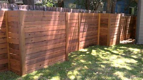 Horizontal Wood Fence Austin Texas 512-699-2825