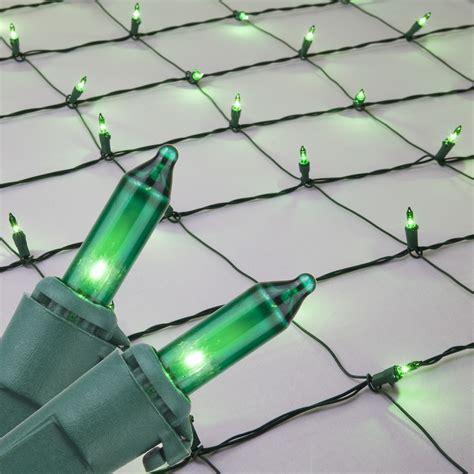 christmas net lights  green mini net lights  green