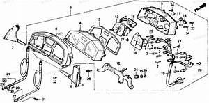 Honda Motorcycle 1990 Oem Parts Diagram For Speedometer