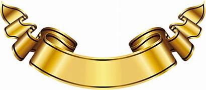 Golden Clipart Clip Ribbon Gold Banner Clipground