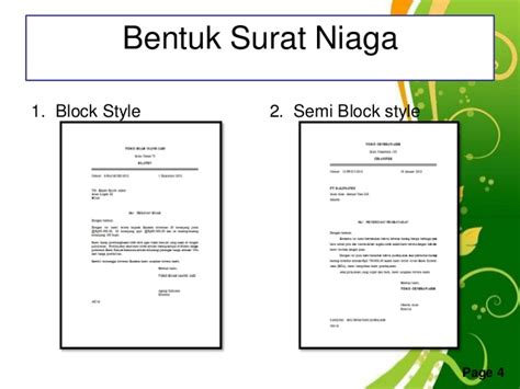 contoh surat pesanan barang elektronik bentuk semi block style contoh surat penawaran semi block style surat f