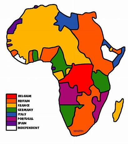 Africa Map Clip Clipart Colonial Colonization Colonialism