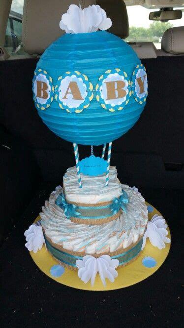 hot air balloon diaper cake baby shower ideas