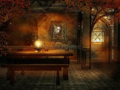 fantasy room   magic crystal stock illustration illustration  colorful door
