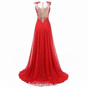 Sexy Red Prom Dresses A-line Gown Lace Up Beaded Backless ...