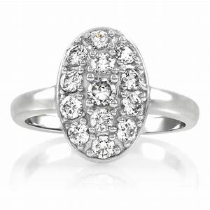vintage oval engagement rings wedding promise diamond With vintage oval wedding rings