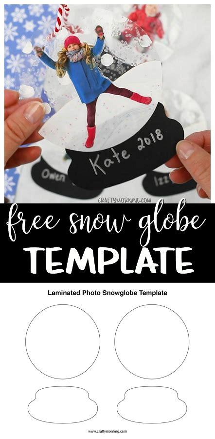 laminated snow globe template crafty morning