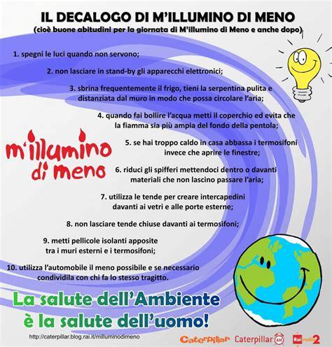 Decalogo M Illumino Di Meno by M Illumino Di Meno 2018 Verso La Parole Insieme