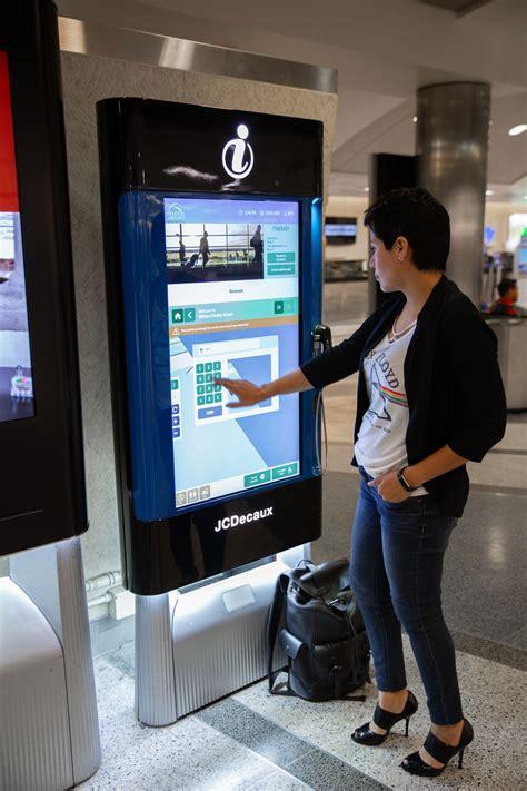 interactive kiosks  travelers navigate houston