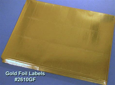 gold foil     laser labels metallic finish  sheets