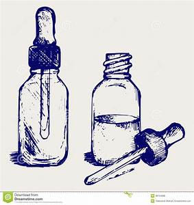 Open Medicine Bottle With A Dropper Royalty Free Stock ...