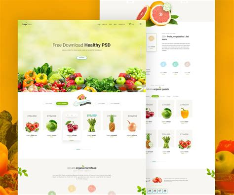 grocery store website template free psd download psd