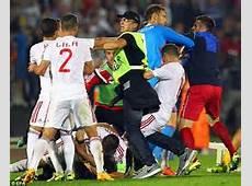 The big kickoff After Serbia vs Albania was abandoned