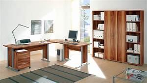 Schreibtisch Zwei Personen : b rom bel office line arbeitszimmer walnuss schreibtisch aktenregal ~ Markanthonyermac.com Haus und Dekorationen