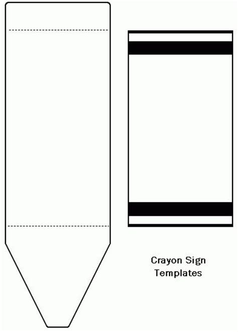 crayon labels template freecraftunlimited crayon template cards crayons and templates