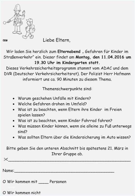 elternbrief vorlage kindergarten projekt vorlage