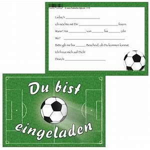 Kindergeburtstag Fußball Spiele : einladungskarten fu ball spielfeld du bist eingeladen ~ Eleganceandgraceweddings.com Haus und Dekorationen