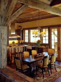 Rustic Dining Room Kitchen Design