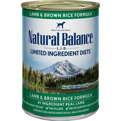 natural balance lid limited ingredient diets lamb