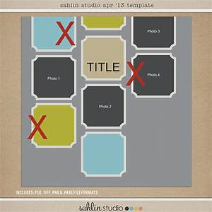 April 2013 Digital Scrapbooking FREE Template | Sahlin ...