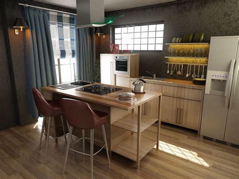 kitchen modern kitchen design  model cgtrader