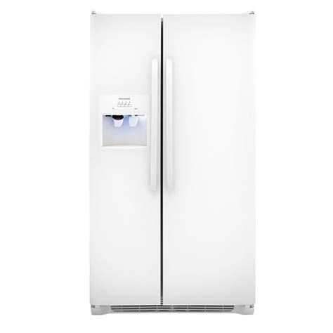 frigidaire maker leaking water on floor shop frigidaire 22 07 cu ft side by side refrigerator with