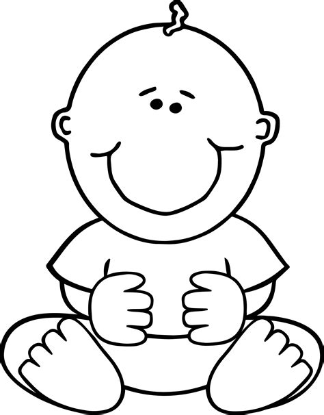 Baby Coloring Pages Sitdown Baby Boy Coloring Page Wecoloringpage