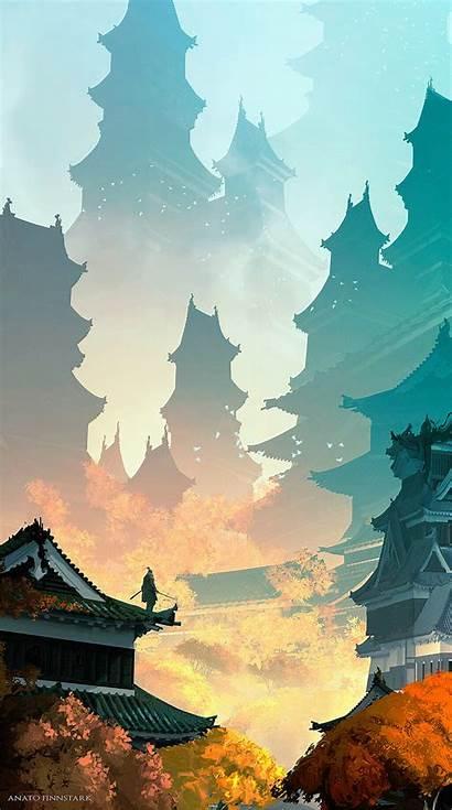 Japanese Japan Sekiro Fantasy Twice Landscape Shadows
