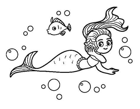 disegni di sirene da colorare disegno di sirena magica da colorare acolore
