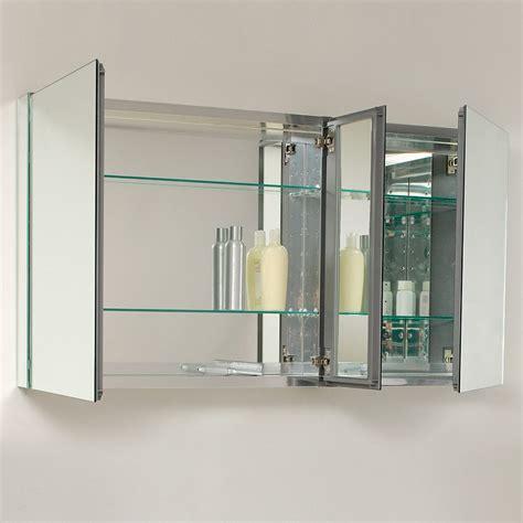 which way should a medicine cabinet open fresca 50 quot wide bathroom medicine cabinet w mirrors
