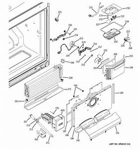 Freezer Section Diagram  U0026 Parts List For Model Pfcs1njxass