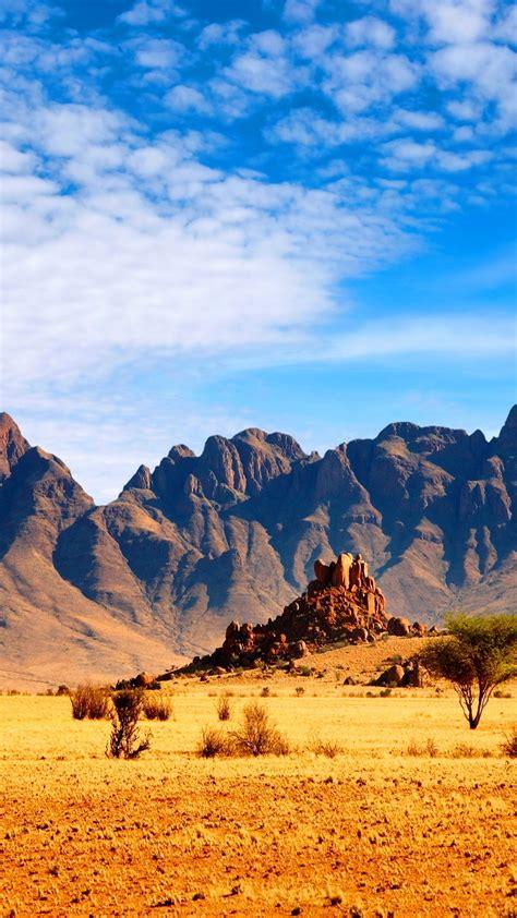 wallpaper african savanna landscape mountains nature