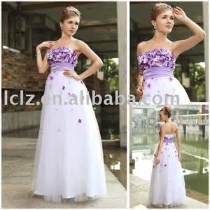 wedding dresses with purple accents wedding by designs purple and white wedding dress