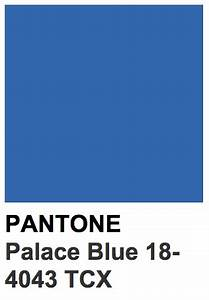 Tpx Colour Chart Pantone 18 4043 Tcx Palace Blue Color Of The Year