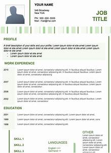 resume examples modern sample resume With contemporary resume