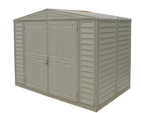 8x6 Plastic Storage Shed by Duramax Model 00111 8x6 Duramate Vinyl Storage Shed Lawn