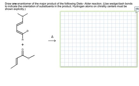 Solved Draw One Enantiomer Of The Major Product Of The Fo