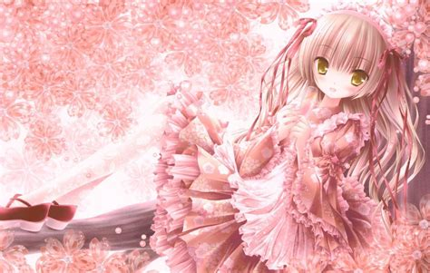 aesthetic anime pink hair wallpapers