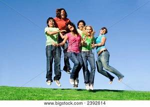 Picture or Photo of Happy smiling group of teens teenagers ...