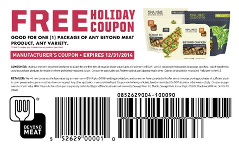 Free Package Of Beyond Meat Product Coupon
