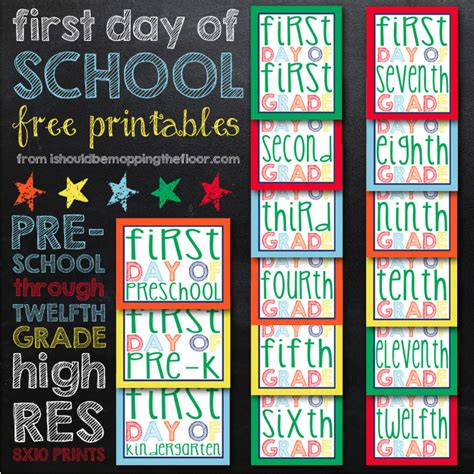 20 Back To School Free Printables First Day Of School