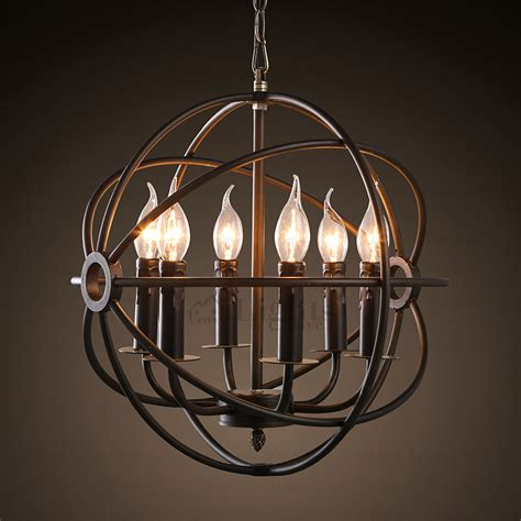 vintage candle wrought iron industrial light fixtures