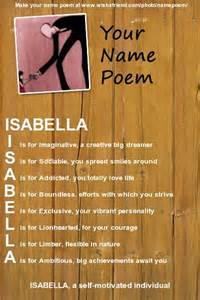 Isabella Name Poem