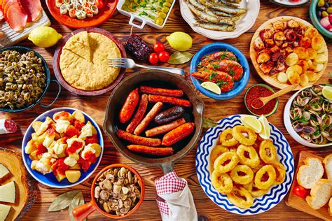 spanish tapas restaurant gastronomy dishes buffet russian ham oil mini ole ole try generous awaits appetisers cold