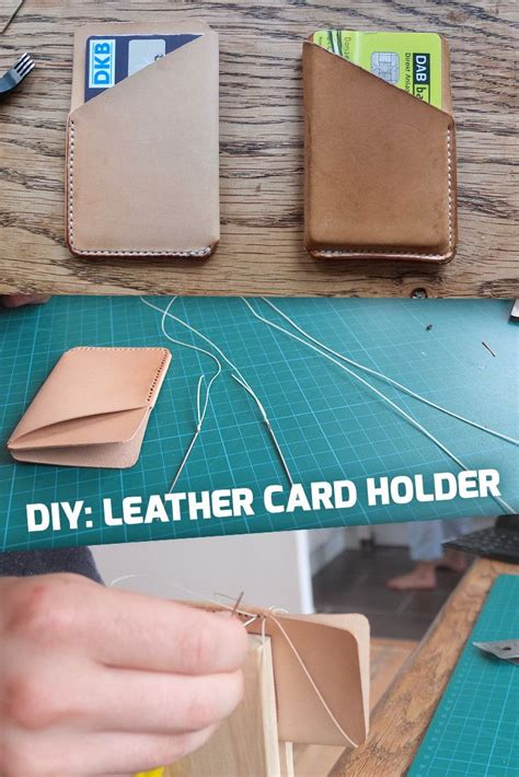 Leather Card Holder Handmade how to small leather card holder diy handmade leather