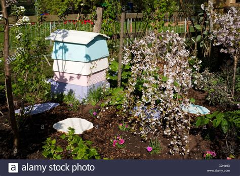 Sweet Garden Retreats by Beehive Garden Uk Stock Photos Beehive Garden Uk Stock