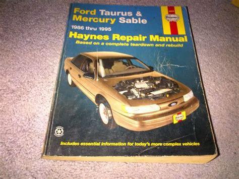 purchase haynes repair manual  ford taurus  mercury