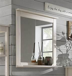 Spiegel Mit Ablage Holz : badezimmer spiegel 67x67 kiefer wei lasiert badspiegel holz massiv ~ Markanthonyermac.com Haus und Dekorationen